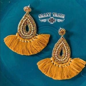 Crazy Train Timber Trail Earrings. Gold Earrings.